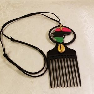 Other - Afro pic map of Africa necklace